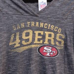 NFL San Francisco 49ers V-Neck T-Shirt